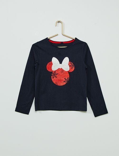 Camiseta de Navidad 'Minnie'                                         AZUL