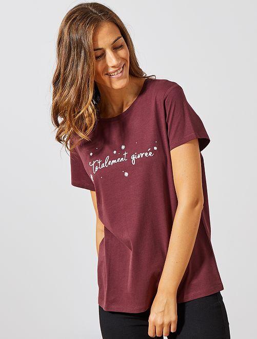 Camiseta de Navidad                                                                             ROJO