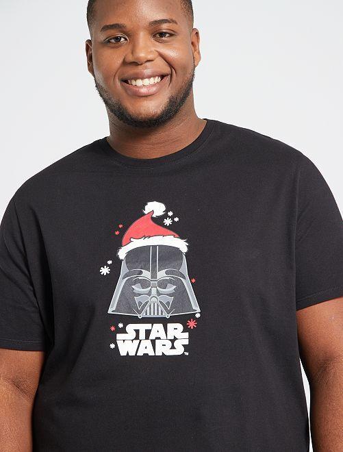 Camiseta de Navidad 'Star Wars'                                         NEGRO