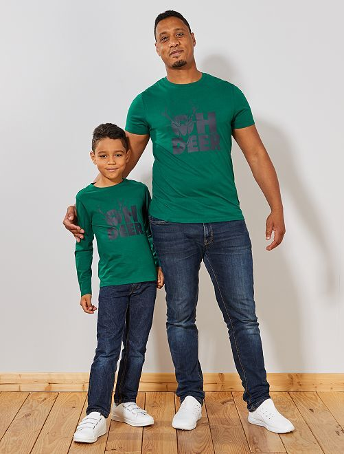 Camiseta de Navidad                                                                             VERDE