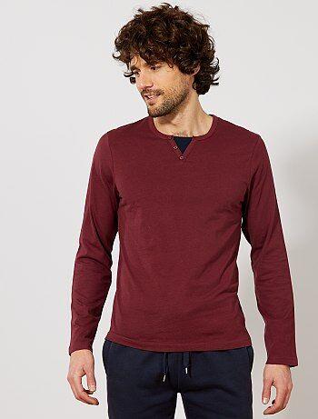 Camiseta de pijama con cuello 2 en 1 - Kiabi
