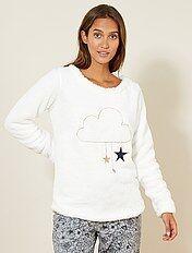 Camiseta de pijama de borreguito