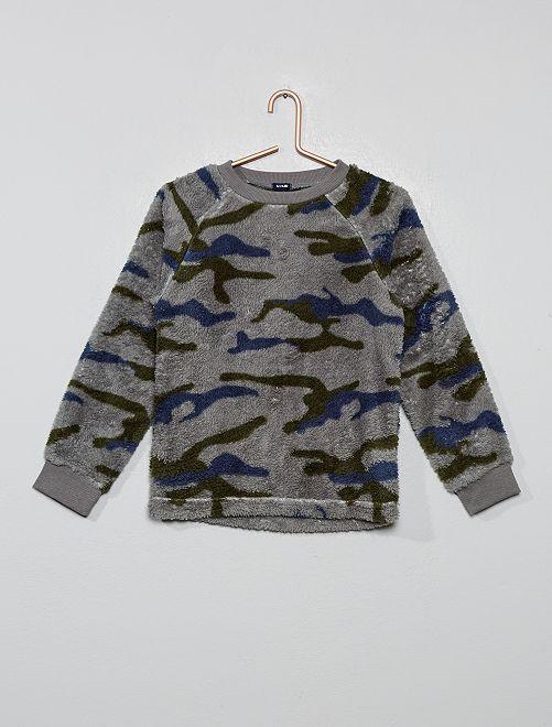 Camiseta de pijama de pelo sintético                                         GRIS