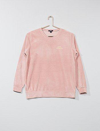 Camiseta de pijama de terciopelo - Kiabi