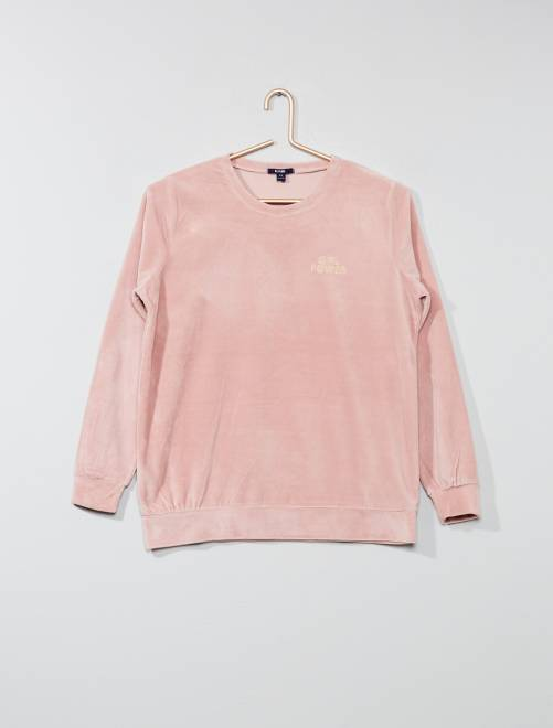 Camiseta de pijama de terciopelo                                                                             ROSA Chica