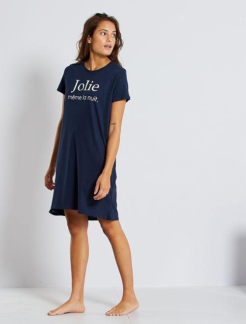 Camiseta de pijama eco-concepción                                                         AZUL