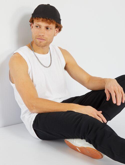 Camiseta de pijama lisa de tirantes                                                     blanco