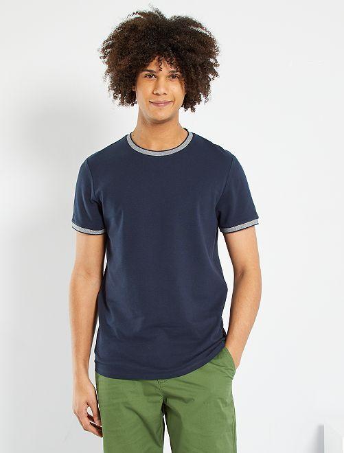 Camiseta de piqué eco-concepción                                                                             azul