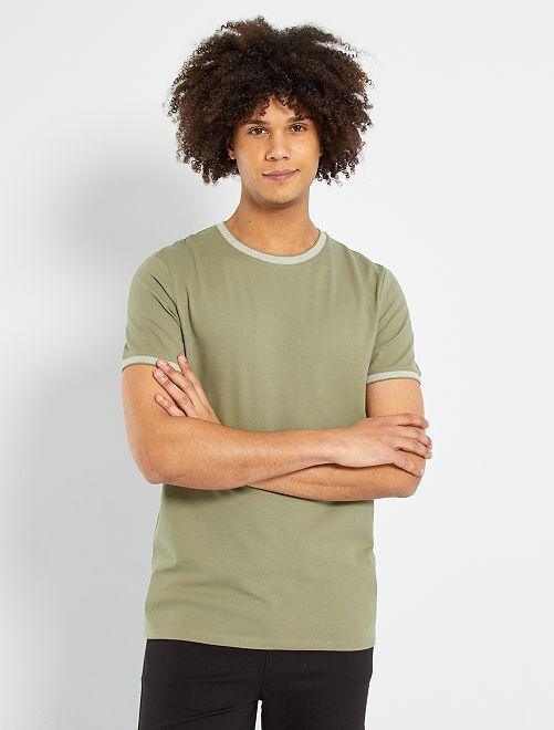 Camiseta de piqué eco-concepción                                                                             verde liquen