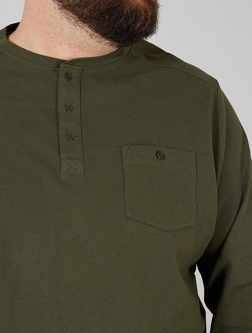 Camiseta de piqué Eco-concepción                                         verde tomillo