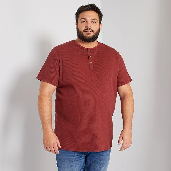 Camiseta De Pique Fantasia Tallas Grandes Hombre Purpura Kiabi 13 00