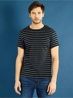 Camisetas talla xl - Camiseta de punto a rayas