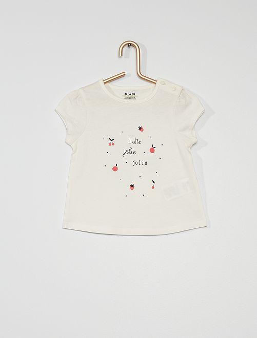 Camiseta de punto                                                                                                                             BLANCO