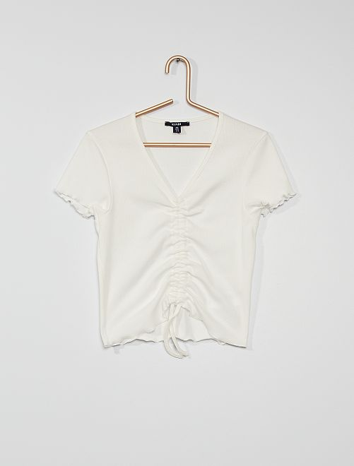 Camiseta de punto                                                     blanco nieve