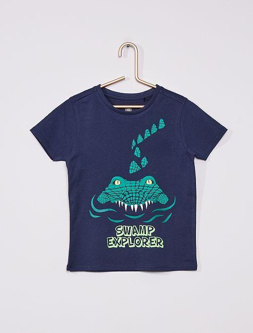 Camiseta de punto 'cocodrilo'                             azul marino