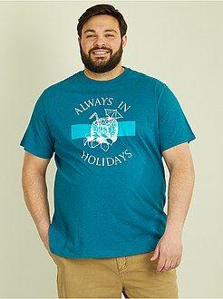 Camiseta de punto con estampado tropical - Kiabi