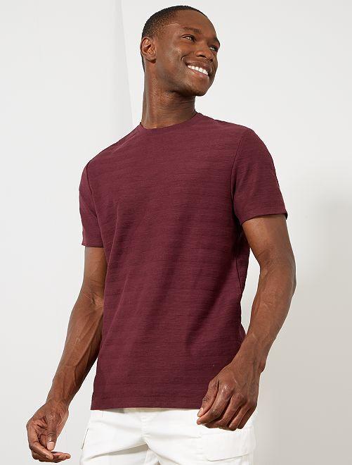 Camiseta de punto de algodón orgánico                                                                             rojo