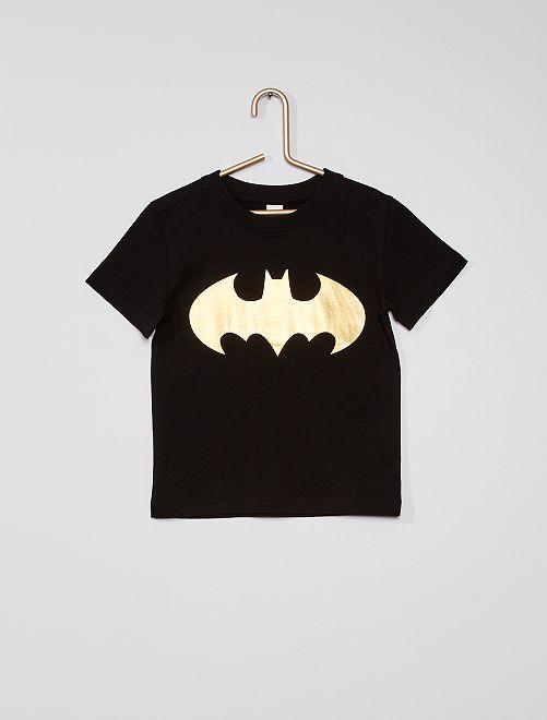 Camiseta de punto de algodón puro 'Batman'                             negro