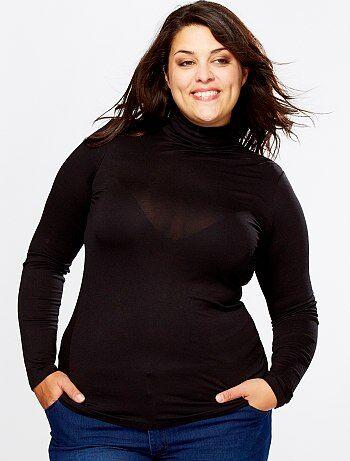 Negro Camisetas Grandes Kiabi Tallas Interior Mujer rqIrB