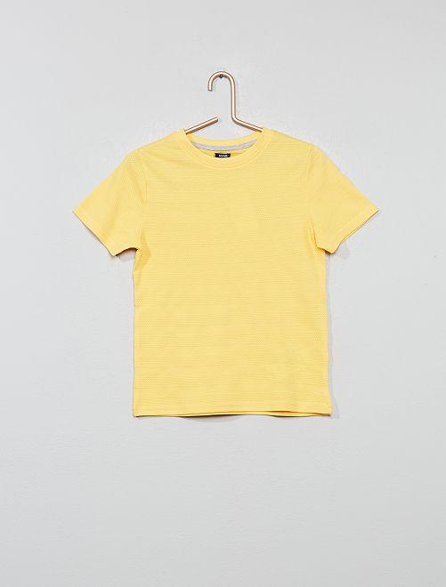 Camiseta de punto de fantasía                                         AMARILLO