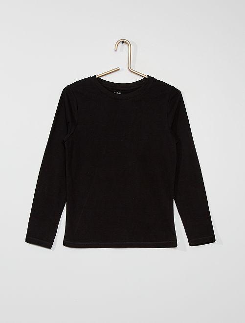 Camiseta de punto de manga larga                                                                                         negro