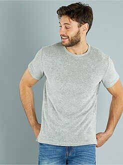Hombre Camiseta de punto de rizo