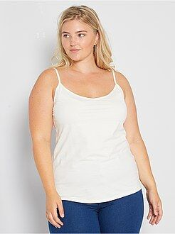 Tallas grandes mujer Camiseta de punto de tirantes finos