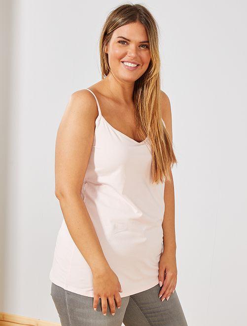 Camiseta de punto de tirantes finos                                                                             ROSA Tallas grandes mujer