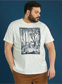 Camiseta de punto estampada 'manglar' - Kiabi