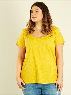 Camiseta de punto flameado - Kiabi