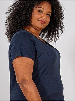 Camisetas manga corta - Camiseta de punto flameado - Kiabi