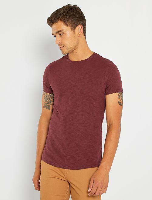 Camiseta de punto flameado                                                                                                                 rojo