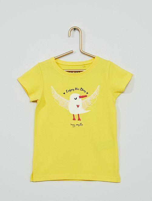 Camiseta de punto 'gaviota'                                         amarillo