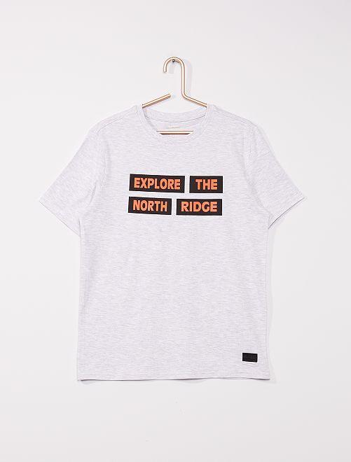 Camiseta de punto                                         GRIS
