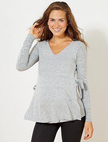 Mujer talla 34 to 48 - Camiseta de punto grueso - Kiabi