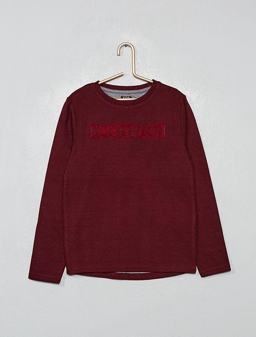 Camiseta de punto grueso                                                     ROJO