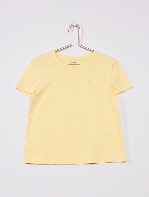 Camiseta de punto lisa                                                     AMARILLO