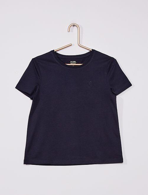 Camiseta de punto lisa                                                     AZUL