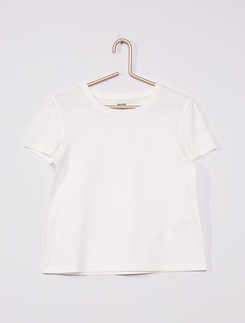 Camiseta de punto lisa                                                     BLANCO