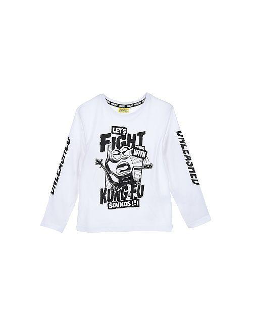 Camiseta de punto 'Los Minions'                                                     blanco