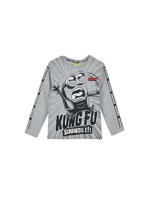 Camiseta de punto 'Los Minions'                                                     gris chiné