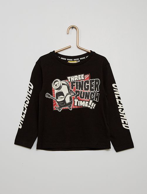 Camiseta de punto 'Los Minions'                                                     negro