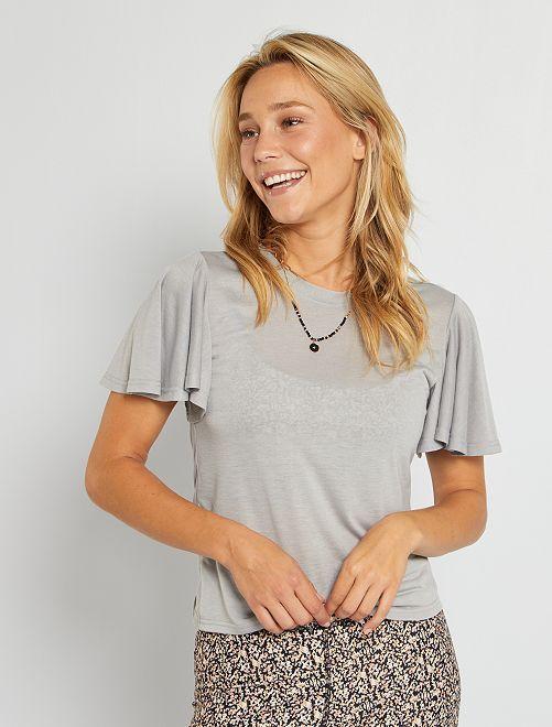 Camiseta de punto made in France                                                     GRIS