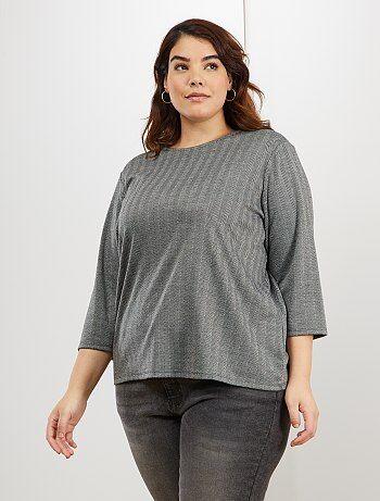Rebajas camisetas manga corta en tallas grandes de mujer