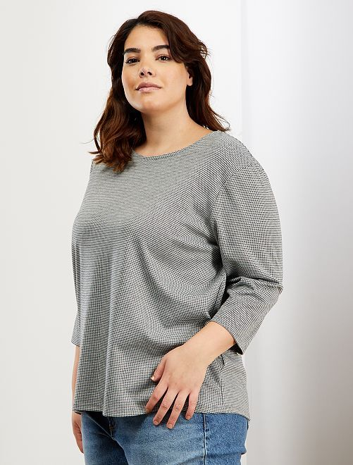 Camiseta de punto milano                                                                 NEGRO