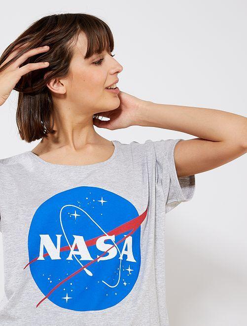 Camiseta de punto 'NASA'                             gris Mujer talla 34 a 48