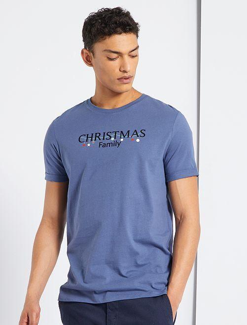 Camiseta de punto 'Navidad'                                                                 AZUL