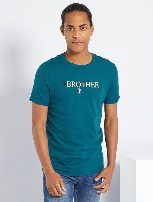 Camiseta de punto 'Navidad'                                                                 VERDE
