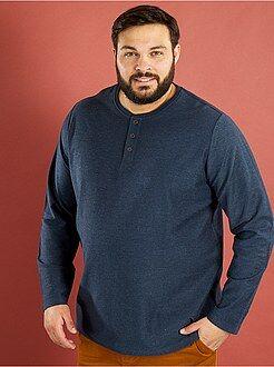 Tallas grandes hombre Camiseta de punto reverse
