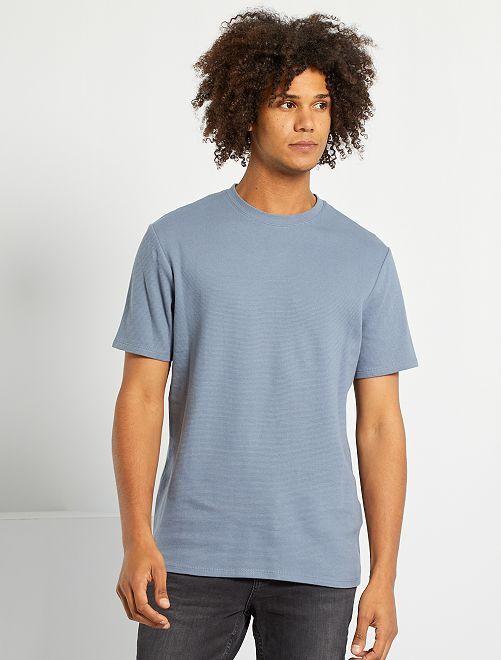 Camiseta de punto texturizado                                                                                                     gris azul